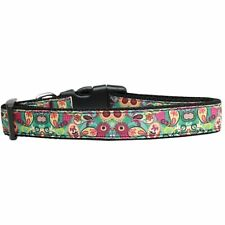 Mirage Pet Products Turquoise Paisley Nylon Dog Collar Medium Narrow