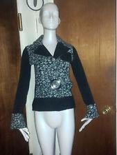 LOLA Animal Print Belted Sweater Jacket Top ~~ Medium