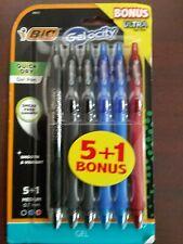 Bic 5ct Gel Ink Pens Quick Dry Nip 3 Black 2 Blue 1 Red Gelocity