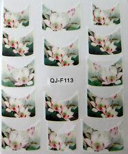 Accessoire ongles : nail art - Stickers décalcomanie - motifs fleurs de lotus