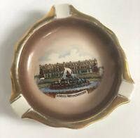 "Vintage Fine Porcelain Schloss Herrenchiemsee Germany Gold Trimmed 4"" Ashtray"