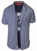 D555 Men's Jaiden King Size Short Sleeve Shirt & T Shirt Pack