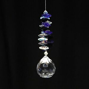 30 mm Lead Crystal Diamond Mystique Cascade or Rose Quartz Cascade