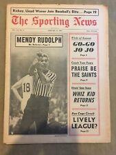 THE SPORTING NEWS FEB 11 ,1967 - MENDY RUDOLPH/RICKEY/WANER/CALVIN MURPHY/ABA!