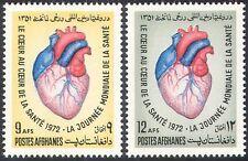 Afghanistan 1972 Medical/Health/Heart/Blood 2v set (n28171)