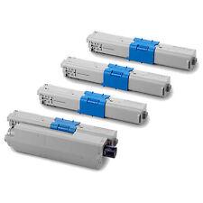 4pk B/C/M/Y Toner For Okidata C310dn C330dn C510dn C530dn MC351dn MC361dn MC561