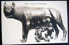 ITALY~ITALIA ~1900's ROMA~ LUPA DEL CAMPIDOGLIO ~ CHILDREN DRINKING WOLF'S MILK