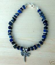 Lapis and Tibetan Silver Dragonfly Bracelet Southwestern Style
