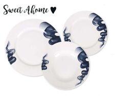 RENATA 18 Piece Ceramic Porcelain Dining Dinner Service Set Plates