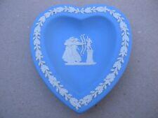 Wedgwood Jasperware Heart Shaped Two Archers Trinket Dish