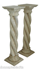 Column Classic on Seed Twist in Travertine Antiques Classic Design Marble Column