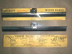"Hackett 7 1/4"" Wiper Blades_1929 1930 31 32 33 Packard_Whippet_Hupmobile_LaSalle"