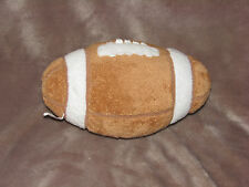 TY PLUFFIES STUFFED PLUSH BROWN TAN FOOTBALL TOY 2005 9""