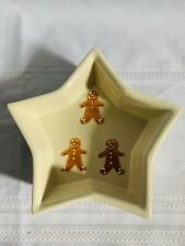 Hartstone Pottery Christmas Gingerbread Men Star Shaped Serving Bowl 8.5x7.5x2""