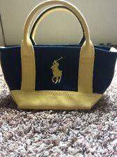 Polo Ralph Lauren Mini Canvas Handbag Blue/yellow