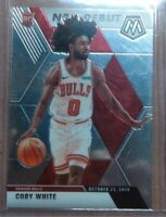 Chicago Bulls! 2020 Panini Mosaic Coby White Rookie Card #264