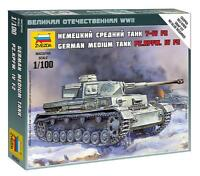 Zvezda  1/100 German PzKpfw IV F2 Medium Tank (Snap) ZVE6251