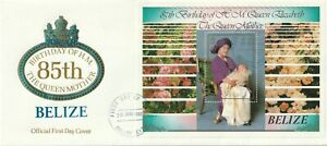 1985 Belize oversize FDC cover 85th Birthday of Queen Elizabeth the Queen Mother