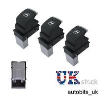 3X Chrome Window Control Switch For VW Golf Jetta MK5 MK6 Tiguan Passat B6 B7 CC