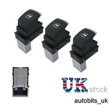 3X CHROME WINDOW CONTROL SWITCH FOR VW GOLF JETTA MK5 MK6 TIGUAN PASSAT B6 B7 CC