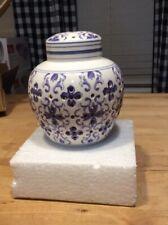 "Illuminated Porcelain Ginger Jar, Blue 5 """
