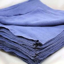 24 Pieces-NEW BLUE GLASS CLEANING SHOP TOWELS/HUCK/ SURGICAL/ DETAILING TOWELS
