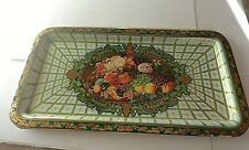 Vintage Daher Floral Decorated Rectangular Metal Tray Made in England