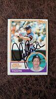 1983 Topps Lance Parrish #285 - Detroit Tigers - Autographed!