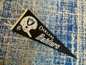 Vintage Original 1967 OAKLAND RAIDERS NFL Single Bar Helmet 30 X 12 Pennant Flag