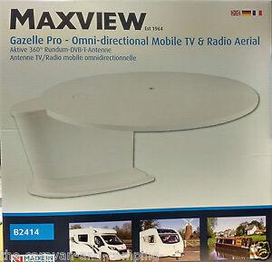 Maxview GAZELLE PRO 360° WHITE  TV/FM/DAB Aerial - HGV Lorry/Caravan/Motorhome