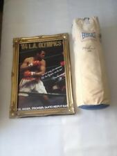 Muhammad Ali 1984 Twice Signed Olympic Vintage Everlast Punch Bag Pre Certified