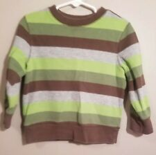 Old Navy Toddler Boys Long Sleeve Ribbed Striped Sweatshirt Sz 3T