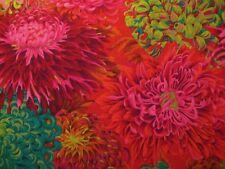 1/4 Yard Kaffe Fassett Red Fuchsia Green PInk Floral Fabric Quilting 100% Cotton