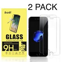 For Apple iPhone 8 / 7 / 6 Tempered Glass Screen Protector 2 Pack - 100% Genuine