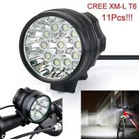 28000 LM 11x CREE XM-L T6 LED Bicycle Bike Light Headlight Cycling Torch Lamp