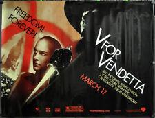 V For Vendetta 2005 Orig 46X60 Subway Film Poster Hugo Weben Natale Portman