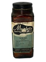 "Myalette Abbot's Foot Powder Advertising Brown Glass Bottle 4.75""H #3460 Vintage"