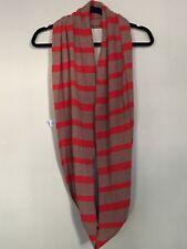 J. Crew Womens Orange Brown Stripe infinity scarf Wool Rabbit Hair Blend