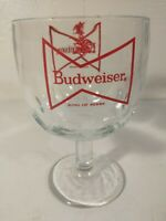 "Budweiser ""King of Beers"" Beer Mug Goblet Glass Vintage 1980s"