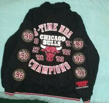 Limited Edition Chicago Bulls 6 Ring Championship patch varsity jacket 3X Jordan