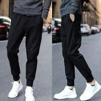 Men's Long Pants Cycling Pants Bike Tights Trousers Joggers Sports Casual Black