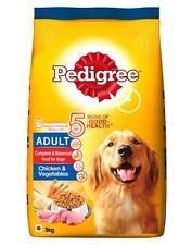 Pedigree Adult Dry Dog Food,Dog Treats,Pet Food ,Chicken & Vegetables, 3 kg Pack