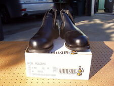 ADDISON MILITARY STEEL TOE MOLDER WELDER ANKLE BLACK WORK BOOTS SIZE 16 R NEW