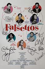 Falsettos Original Broadway Revival Cast Signed 14x22 Window Card COA