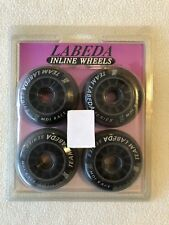 New Team Labeda Series 76mm 78A Inline Skates Wheels Black Roller Blades MDI