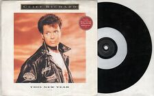 """CLIFF RICHARD This New Year  7"""" Etched Disc, Ps, Orig 1991 Ltd Edition, 2 Tracks"""