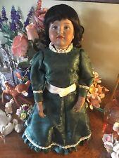 Antique Bisque Doll Reproduction Kammer Reinhardt 114 Ceramic Black Hair German