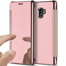 Clear Mirror View Slim Case Flip Cover for OPPO iPhone 6 7 8plus Huawei Samsung LG V10 Black