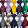 USA Mens Silk Tie Set 98 Colors Blue Red Black Grey Green Pink Necktie Wedding