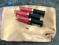 3x Ciate London Mini Lip Luster High Shine Balm Wildfire + Makeup Bag! Ipsy NEW!